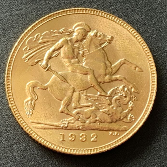1932  Gold Sovereign South Africa Mint Last Sovereign until 1957